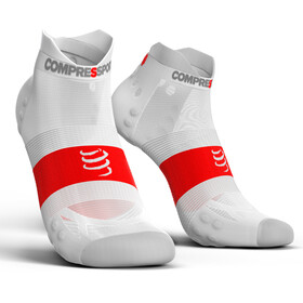 Compressport Pro Racing V3.0 UItralight Run Low - Calcetines Running - blanco